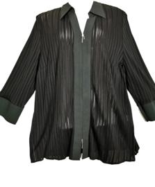 LAMBERTINO Aparte zwarte blouse 46