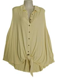 YESTA Trendy stretch knoop shirt 54-56