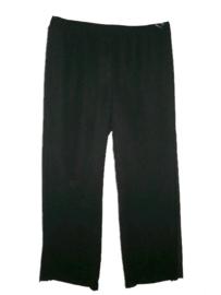 Q-NEEL Aparte zwarte dubbel laags pantalon 56