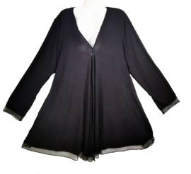 APRICO Prachtig zwart tricot vest 54