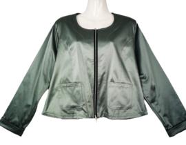 OPHILIA Super mooi soft satin stretch jasje 46-48