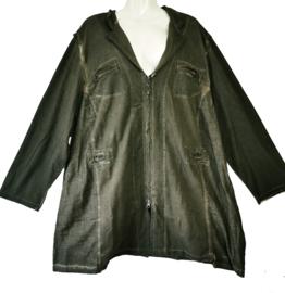 APRICO Apart tricot vintage vest met rits 52