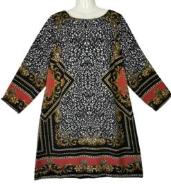 YOEK Prachtige luxe crepe jurk 48-50