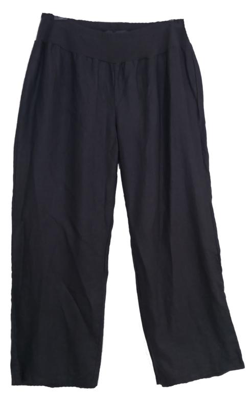 X-TWO  Linnen broek met elastische taille  50