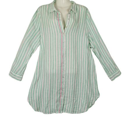OPEN END Trendy lange wijde linnen blouse 44-46