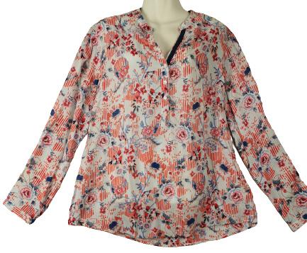 OPEN END Mooie wijde viscose blouse 44