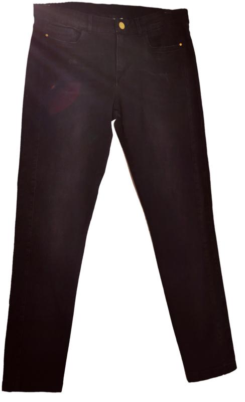 OCTOBER Super mooie zwarte stretch jeans 44-46
