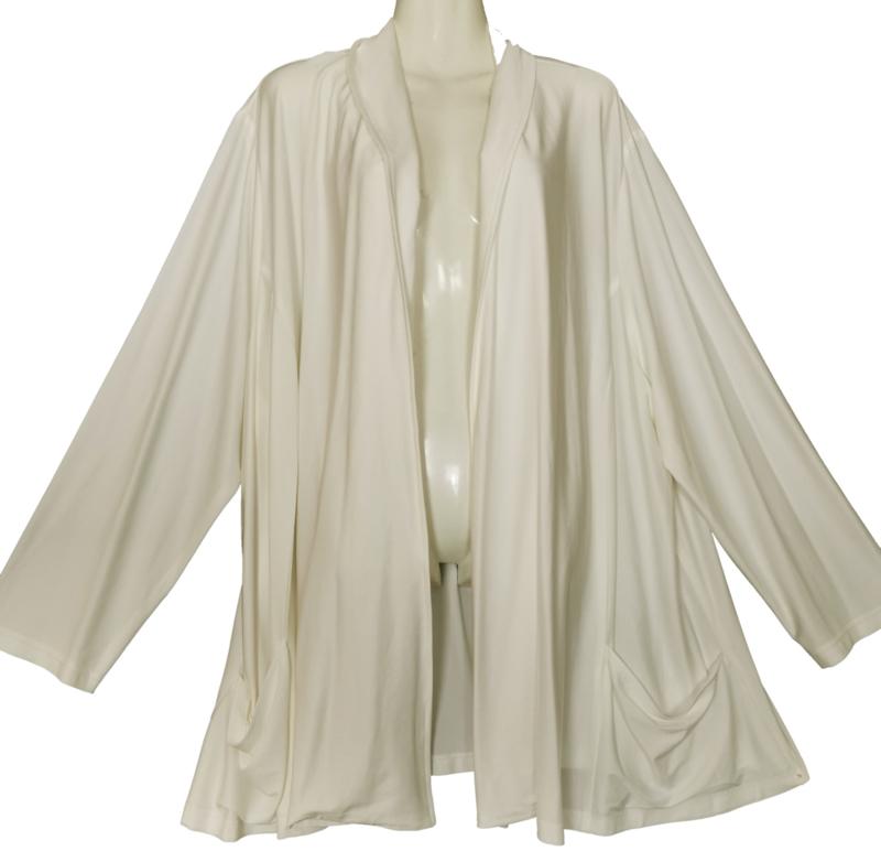 CHALOU Chique roomkleurig stretch vest 56-58