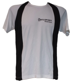 Railsport multifunctioneel sport shirt - Zwart/Wit (unisex)