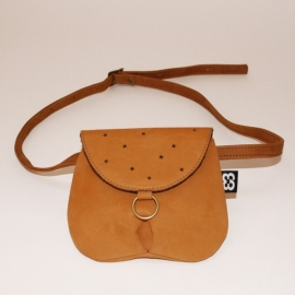 Cognac Recycled leather