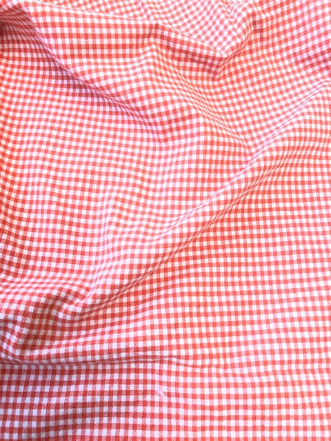 mondkapje rood/oranje ruitje