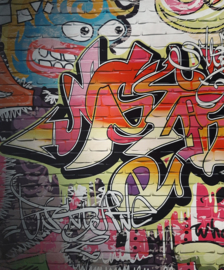 Tricot Panel Graffiti Art Wall (62481)
