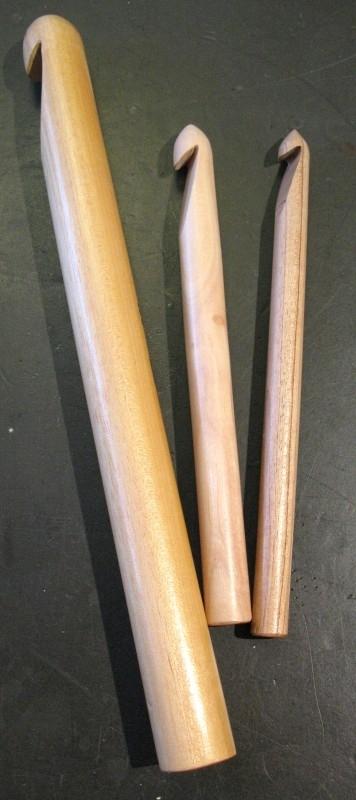 Haaknaalden van hout