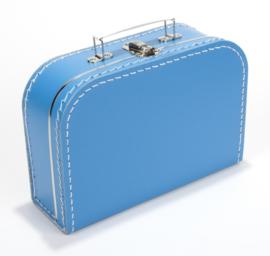 Kartonnen koffertje blauw