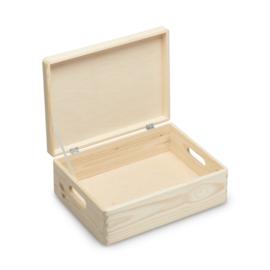 Houten kistje met deksel 40x30x14