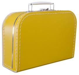 Kartonnen koffertje oker geel