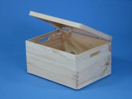 Houten kistje met deksel 40x30x23