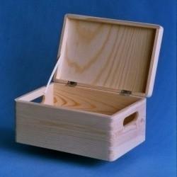 Houten kistje met deksel 30x20x14