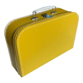 Kartonnen koffertje oker geel - 30 cm