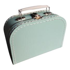 Kartonnen koffertje mintgroen - 20 cm