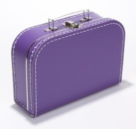 Kartonnen koffertje paars