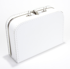 Kartonnen koffertje wit - 30 cm