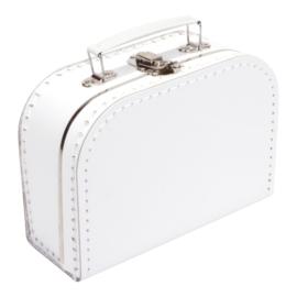 Kartonnen koffertje wit - 20 cm