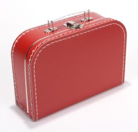 Kartonnen koffertje rood
