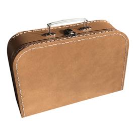 Kartonnen koffertje bruin (kraft) - 30 cm