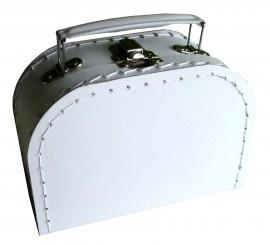 Kartonnen koffertje wit klein