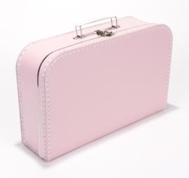 Kartonnen koffertje baby roze - 35 cm