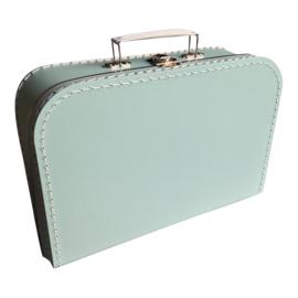 Kartonnen koffertje mintgroen - 30 cm