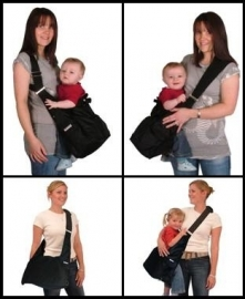 Luiertas en babydrager in één