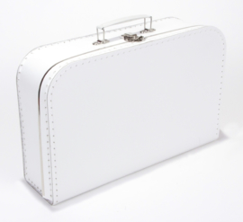 Kartonnen koffertje wit - 35 cm