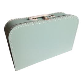 Kartonnen koffertje mintgroen - 35 cm