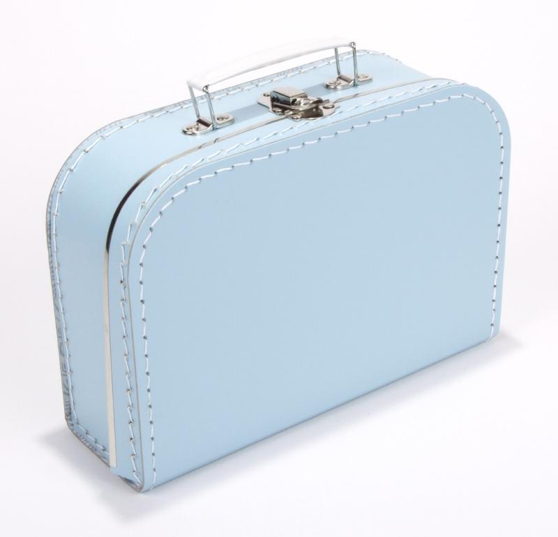 Kartonnen koffertje baby blauw