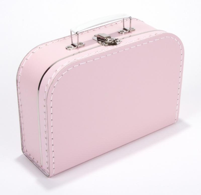 Kartonnen koffertje baby roze