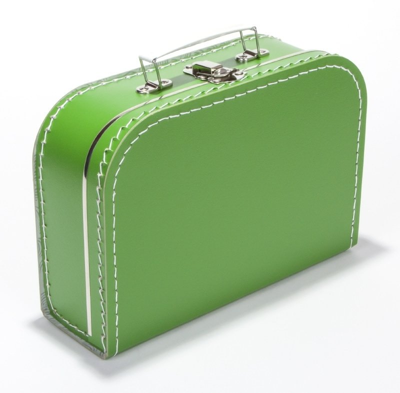 Kartonnen koffertje grasgroen