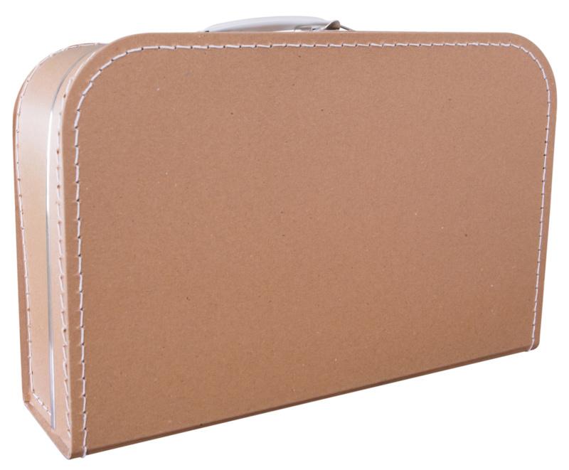 Kartonnen koffertje bruin (kraft) - 35 cm