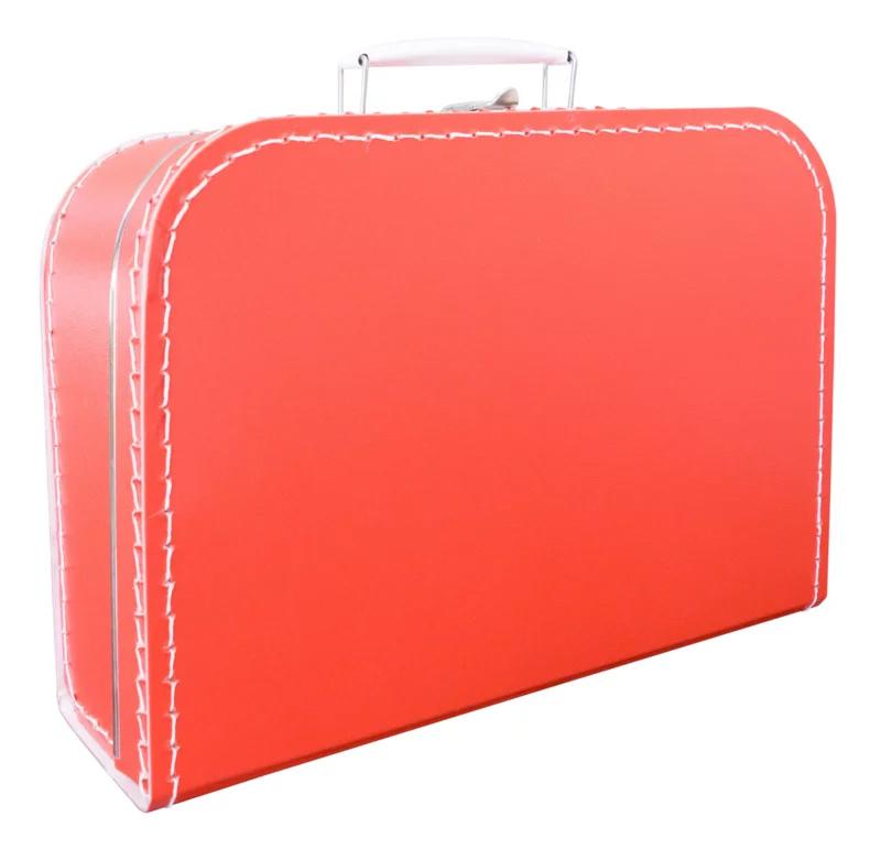 Kartonnen koffertje rood - 30 cm