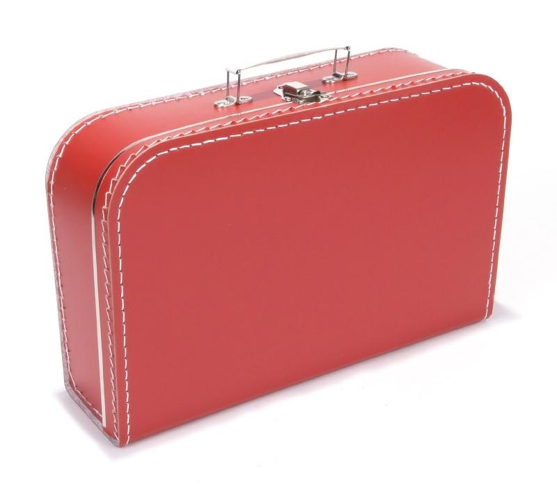 Kartonnen koffertje rood - 35 cm