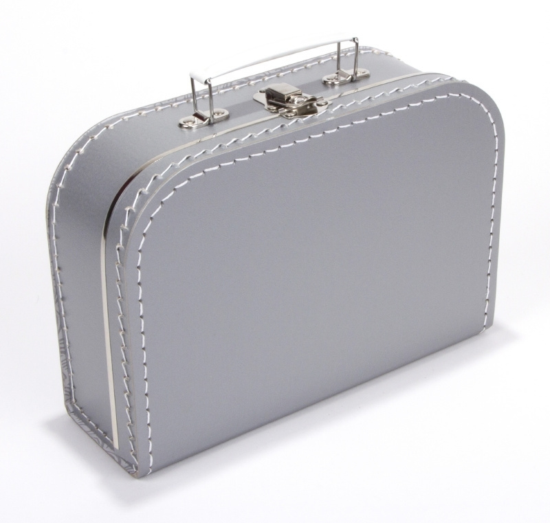 Kartonnen koffertje zilver