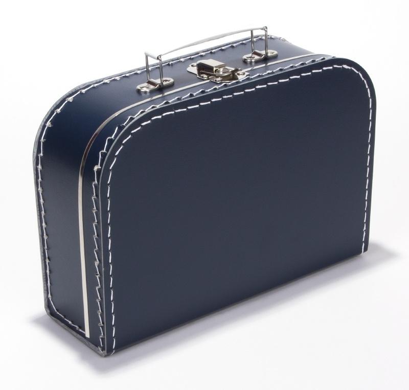 Kartonnen koffertje donker blauw