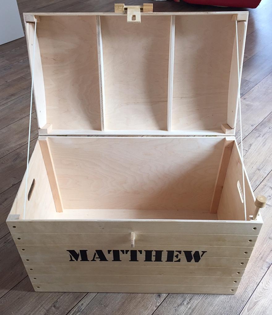 Houten schatkist met naam - Matthew