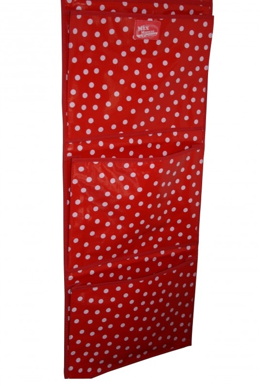 TIJDSCHRIFTHANGER ROOD/WIT POLKADOTS