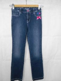 Donkerblauwe jeansbroek Blue Bay mt 140