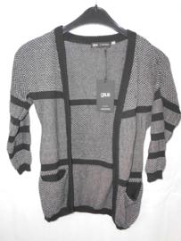 Zwart witte cardigan GSUS mt 110/116
