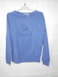 Blauwe longsleeve Geisha mt 176