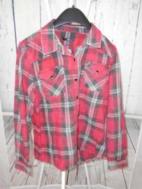 Geruite blouse LTB mt 164