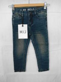 Donkerblauwe jeansbroek MOLO mt 104